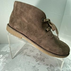 LUCKY BRAND Suede Emilia Lace Up Ankle Boots 8